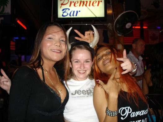 The devil in my niece with Ladyboy and her lady friend
